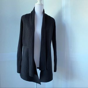 White House Black Market ribbed opened cardigan